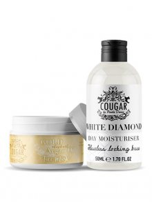 Cougar Pleťová maska argan/zlato + hydratační krém bílý diamant\n\n