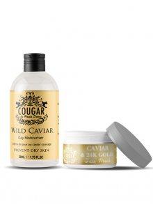 Cougar Hydratační krém + pleťová maska s kaviárem a zlatem BPCOR44\n\n