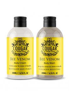 Cougar Sprchový gel a tělový krém se včelím jedem\n\n
