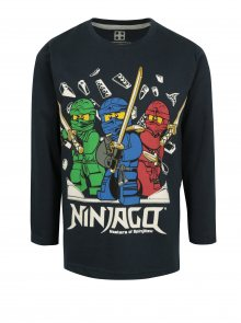 Tmavě modré klučičí tričko s potiskem Ninjago Lego Wear