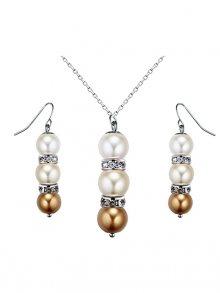 Ocean Pearl Sada náhrdelníku s náušnicemi\n\n