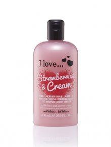 I love... Sprchový a koupelový krém - jahody se smetanou\n\n