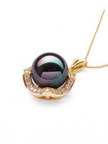 Ocean Pearl Dámský náhrdelník BPS 1033 O BLACK\n\n