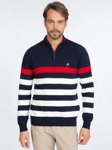 Sir Raymond Tailor Pánský svetr SI9478782_Navy-Red-Ecru\n\n