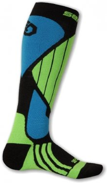 Sensor Lyžařské ponožky 695043_zelená/modrá\n\n