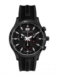 Chrono Diamond Pánské hodinky 12000C Herrenuhr Okeanos Schwarz IP\n\n