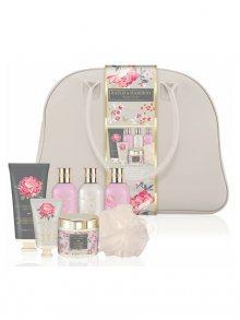 Baylis & Harding Dárková sada v cestovní tašce - Růžová magnolie a Květy hrušky RG18WEEKEND\n\n
