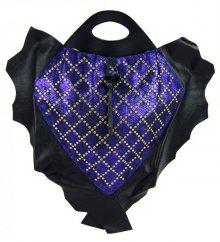 Luxusní kožená kabelka fasco Berlin Fish Design 68635 modrá - modrá