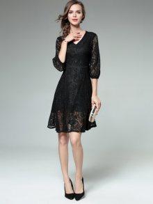 Kaimilan Dámské šaty QC696 Black\n\n