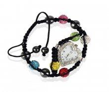 Náramek s hodinkami Shamballa LSB0019 barevný - barevný