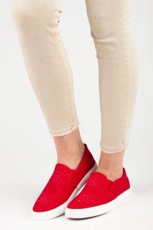 Skvělé červené nazouvací tenisky