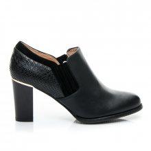 Fantastické černé dámské kotníčkové botičky