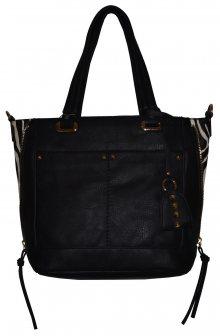 Velmi stylová černá dámská kabelka