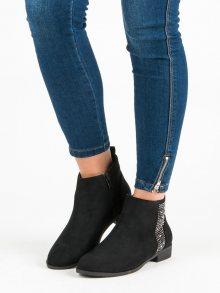 Elegantní černé ploché botky