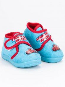 Krásné modré chlapecké papuče Auta