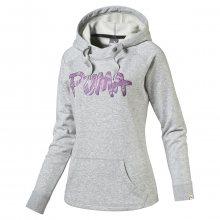 Puma Fun Font Hood Sweat Tr W šedá M