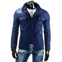 Pánská stylová street bunda modrá