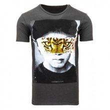 Pánské tričko s potiskem (triko) grafitové