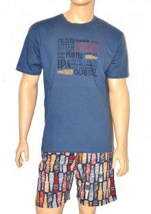 Pánské pyžamo Cornette 326/64 M Modrá