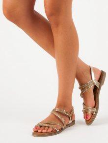 Zlaté sandály na přezku