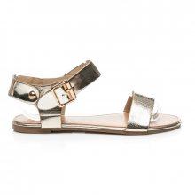 Krásné zlaté sandály s zapínáním na volitelný pásek