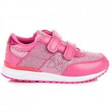Pohodlné sytě růžové dívčí tenisky