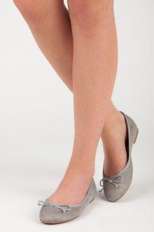 Roztomilé šedé baleríny s mašličkou