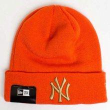 Kulich New Era MLB League Essential Cuff NY Yankees Knit Orange - UNI