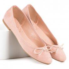 Roztomilé světle růžové baleríny s mašličkou