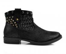 Skvělé černé kotníčkové boty s hvězdičkami