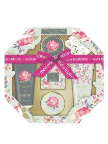 Baylis & Harding Dárková sada s mycí houbou - Růžová magnolie a Květy hrušky RG18HEXTRAY\n\n