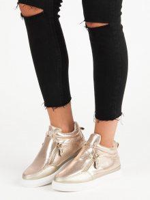 Zlaté tenisky na zip