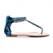 Parádní modré vzorované sandály