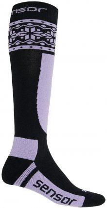 Sensor Lyžařské ponožky 1070847_černá/fialová\n\n