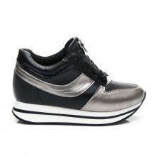 Nevídané černo-stříbrné dámské tenisky