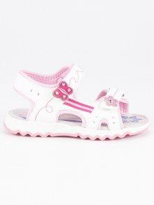 Dětské bílé ploché sandály