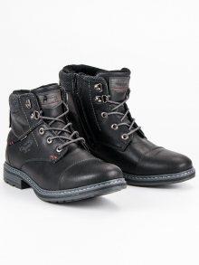 Pohodlné černé pánské boty na každý den
