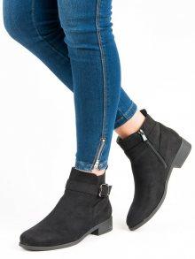 Klasické černé botky na zip