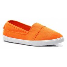 Jednoduché oranžové dásmké slip on
