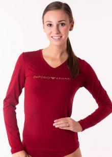 Dámské tričko Emporio Armani 163141 8A225 L Wine