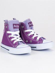 AMERICAN CLUB Dětská sportovní obuv LH-9120PU/LT.PU/W