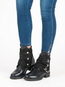 Originální černé kotníkové boty