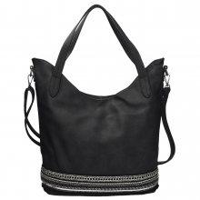 Dámská černá kabelka s ozdobnými prvky