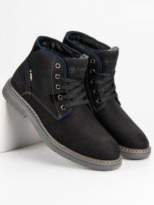 Perfektní černé pánské kotníčkové boty
