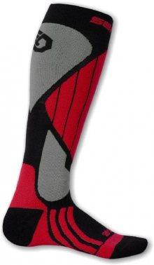Sensor Lyžařské ponožky 695043_šedá/červená\n\n