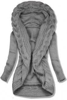 Tmavě šedý pletený svetr