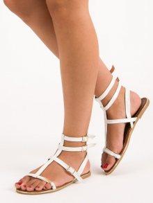 Moderní bílé sandály