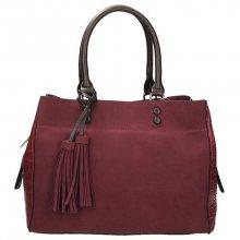 Elegantní kabelka se střapci v barvě bordó