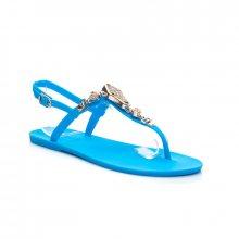 Krásné modré dámské sandálky