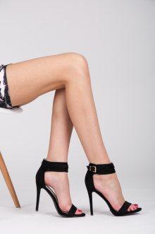 Letní a sexy černé dámské sandály